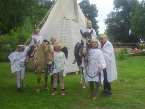 Indianerspiele bei den Reiterferien