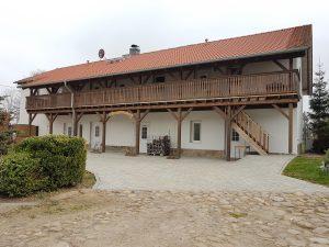 Ein Blick auf das neu renovierte Pensionsgebäude.